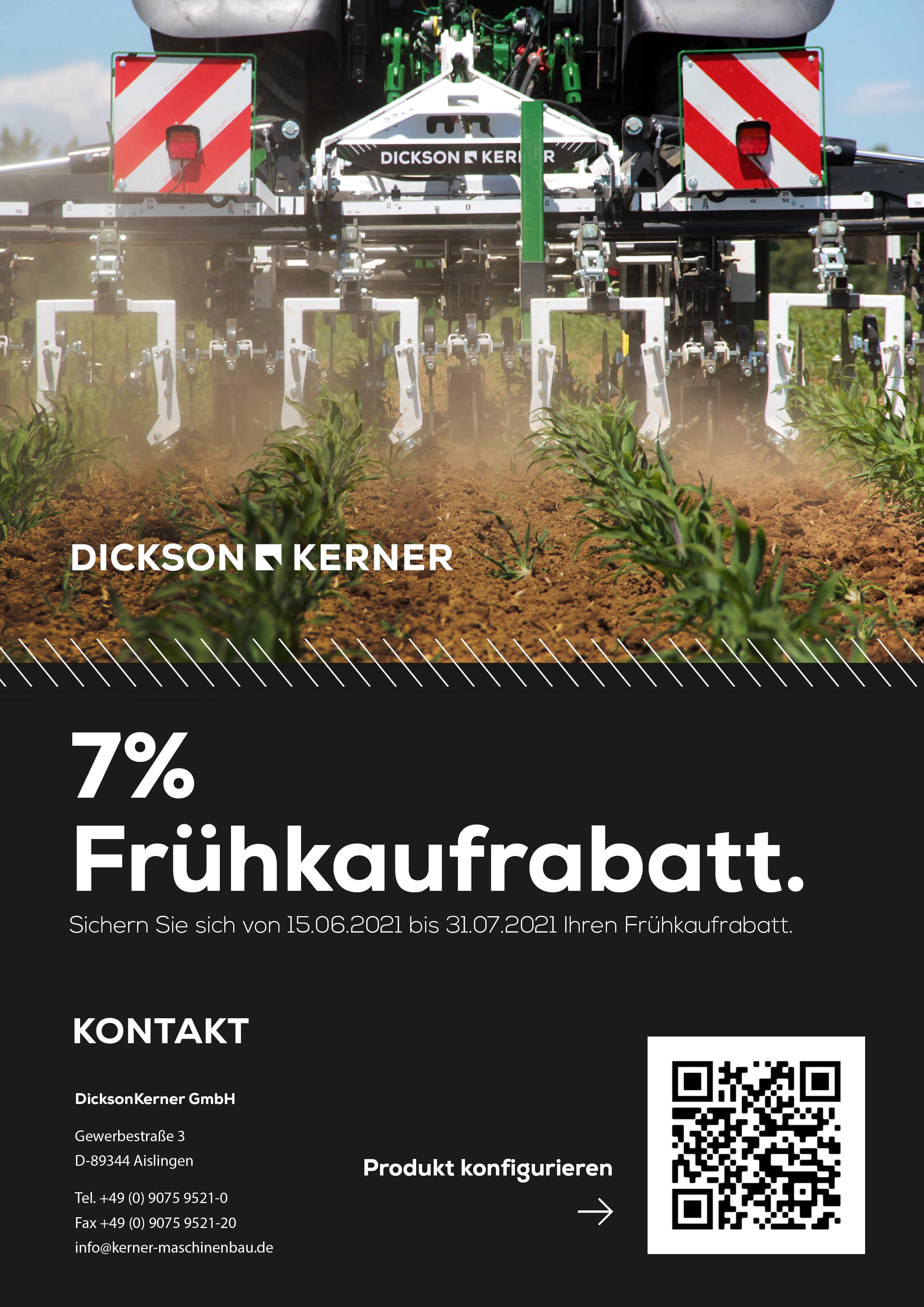 DicksonKerner Frühkaufrabatt 2021